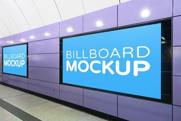 Subway Billboard Mockup #21