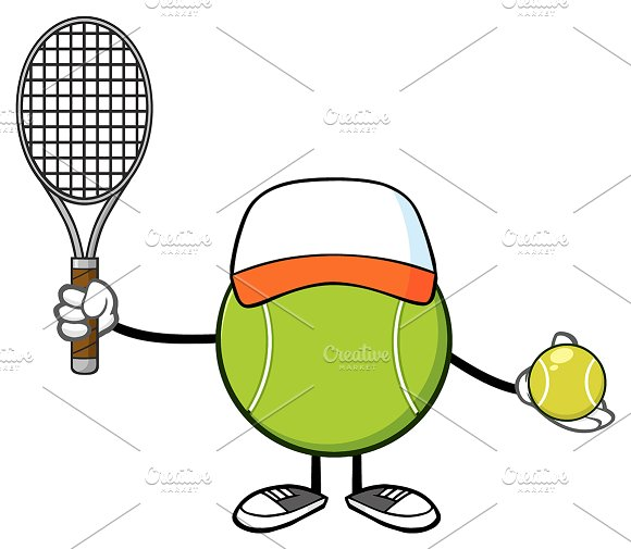 Tennis Ball Player With Hat