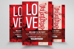 Valentines Day Party Flyer Templates