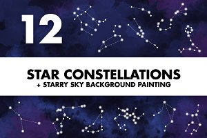 Star Constellations + Sky Painting