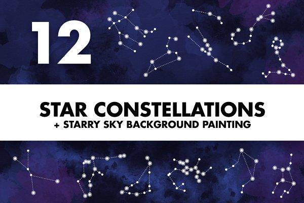 Star Constellations + Sky Painting