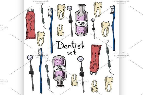 Set Of Dentist