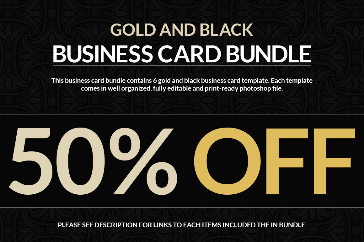 6 Gold And Black Business Cards ~ Business Card Templates ~ Creative ...