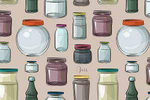 Pattern of empty jars