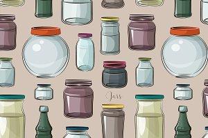 Pattern of empty jars