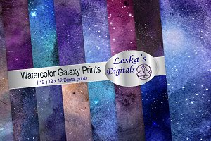 Watercolor Galaxy Prints