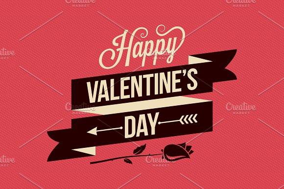 Valentines Day Card Vintage Poster