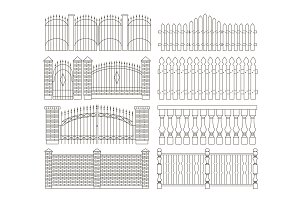 Set of gates and fences