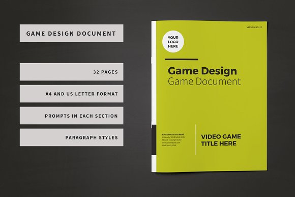 Game design document template brochure templates creative market maxwellsz