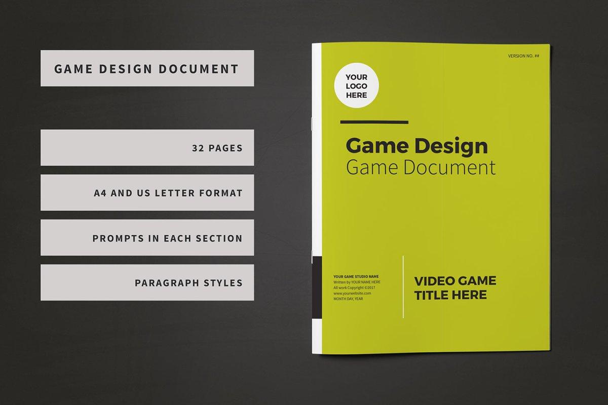 Game Design Document Template ~ Brochure Templates