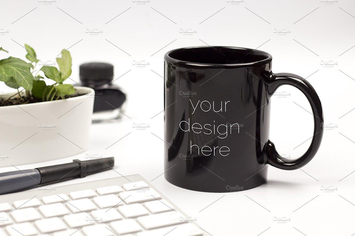 black mug mockup 2 product mockups creative market