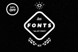 Ten Fonts Kit- 50% OFF