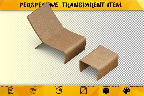 Wooden Chair Isolate Item