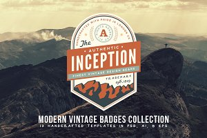 Modern Vintage Badges Collection