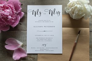Bridal Shower Invitation - Editable