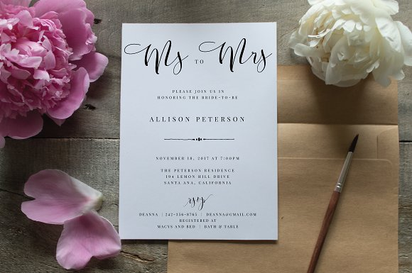 bridal shower invitation editable invitations