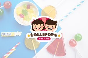 Lollipop. Kids Logo