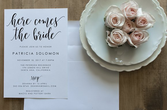 Bridal Shower Invitation Editable