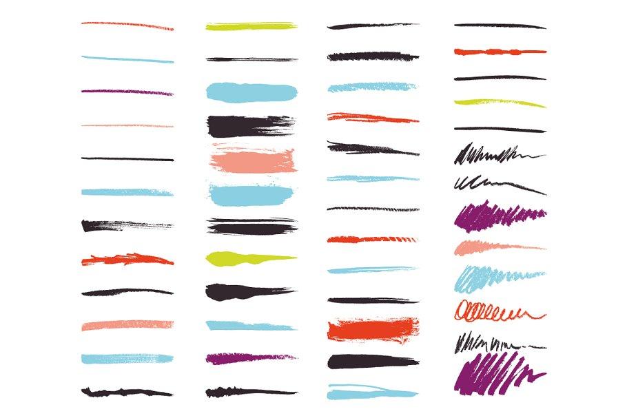 Art Brush Pack For Illustrator Objects Creative Market Pro