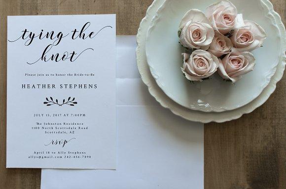 Bridal Shower Invitation Editable