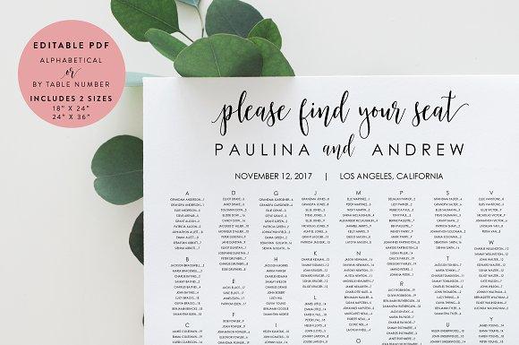 Wedding Seating Chart Editable