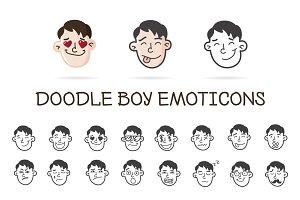 Doodle Boy. Emoticons