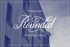 Procreate Lettering Brush - Rounded