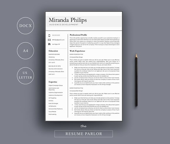 Resume Template A4 US Letter
