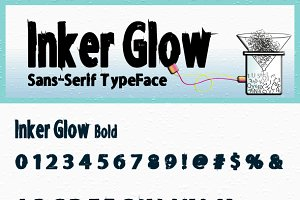 Inker Glow Bold and Bold Italic