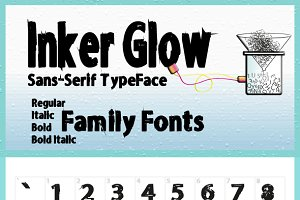 Inker Glow Family Fonts