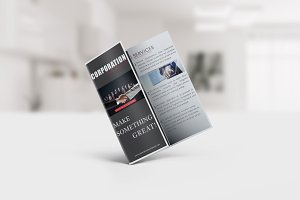 Corporation Trifold Brochure Templat