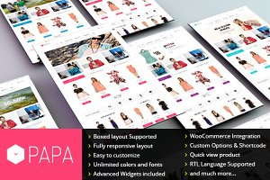 WordPress eCommerce Themes - SW Papa - Responsive WordPress Theme
