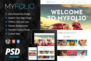 MyFolio Responsive OnePage Wordpress