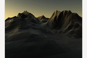 Mountain low poly background.