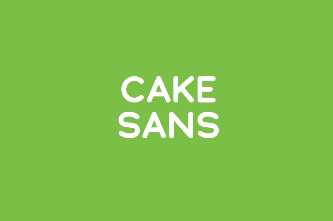 Cake Sans Light Sans Serif Fonts Creative Market
