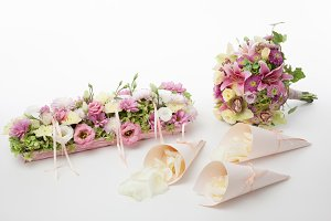 Wedding flowers set