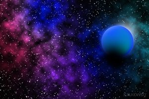 Space Cosmic Background