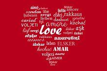 Love greetings card vector