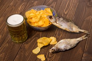 The fish with beer