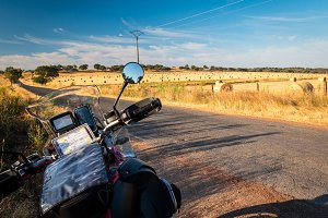 Traveling on a motorcycle