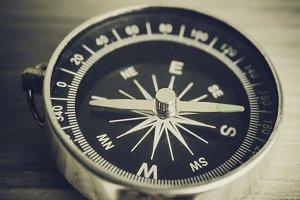 Antique grunge compass