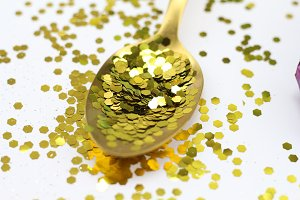 Spoonful of Glitter | Stock Photo