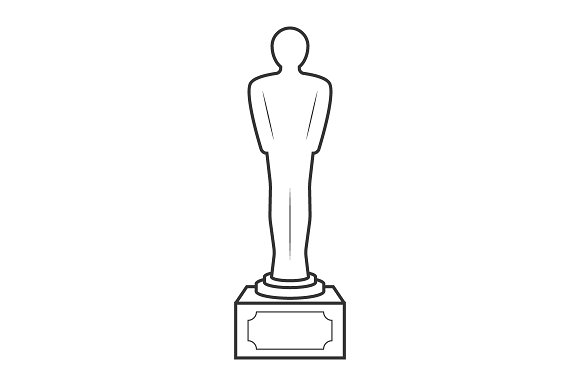Movie Award Line Icon