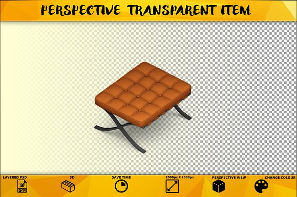 Sofa Chair Isolated Item