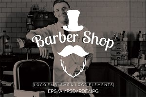 Barber Shop Logo Emblems