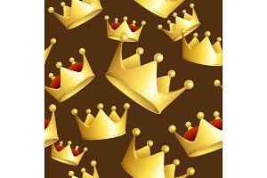 Crowns Background Pattern.