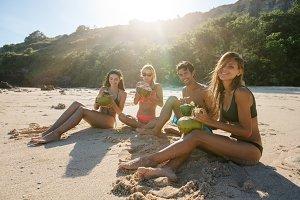 Young friends enjoying summer