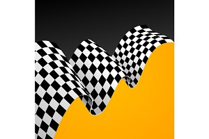 Racing Flag Background.