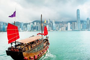 Red Sailboat, Hong Kong