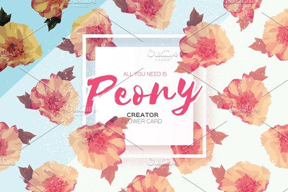 Peony Creator Invitation Card